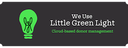 We use Little Green Light for donor management